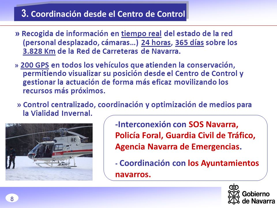3. Coordinación desde el Centro de Control