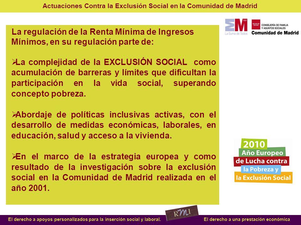 La regulación de la Renta Mínima de Ingresos Mínimos, en su regulación parte de: