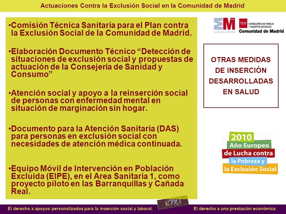 OTRAS MEDIDAS DE INSERCIÓN DESARROLLADAS EN SALUD