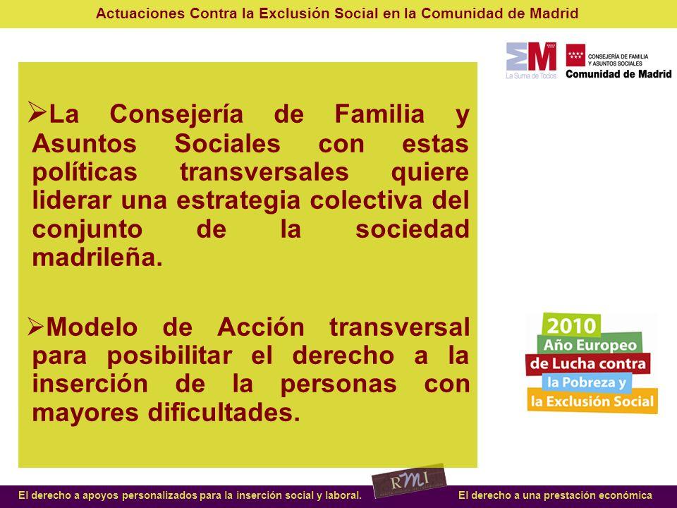 La Consejería de Familia y Asuntos Sociales con estas políticas transversales quiere liderar una estrategia colectiva del conjunto de la sociedad madrileña.