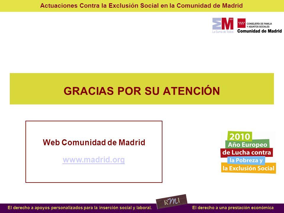 GRACIAS POR SU ATENCIÓN Web Comunidad de Madrid