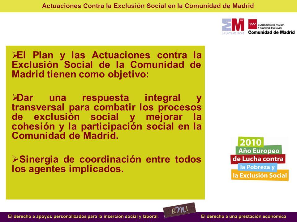 El Plan y las Actuaciones contra la Exclusión Social de la Comunidad de Madrid tienen como objetivo: