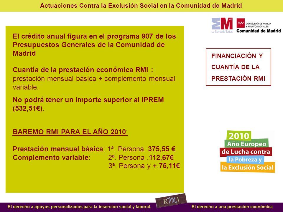 No podrá tener un importe superior al IPREM (532,51€).