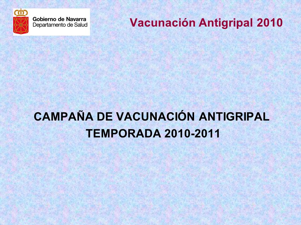 Vacunación Antigripal 2010
