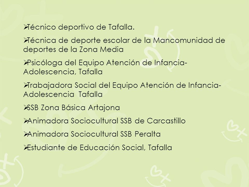 Técnico deportivo de Tafalla.