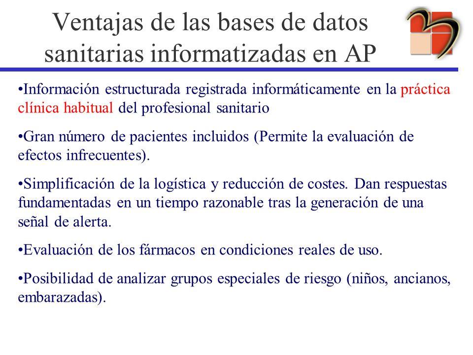 Ventajas de las bases de datos sanitarias informatizadas en AP