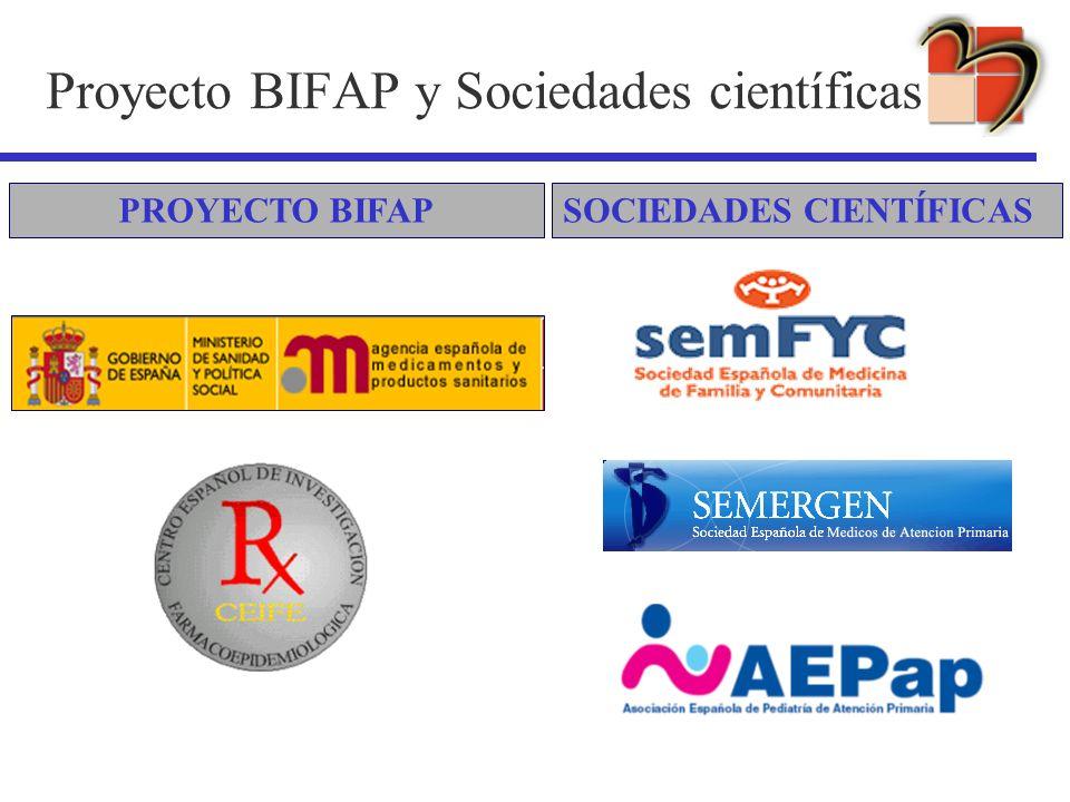 Proyecto BIFAP y Sociedades científicas