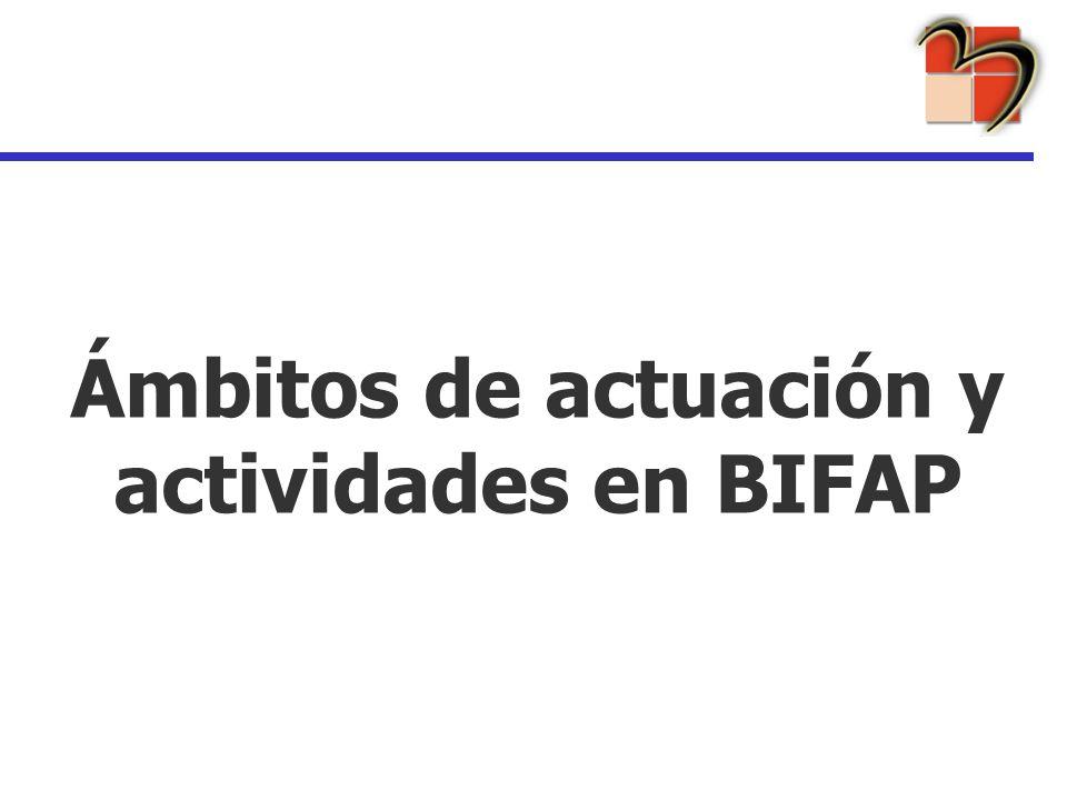 Ámbitos de actuación y actividades en BIFAP
