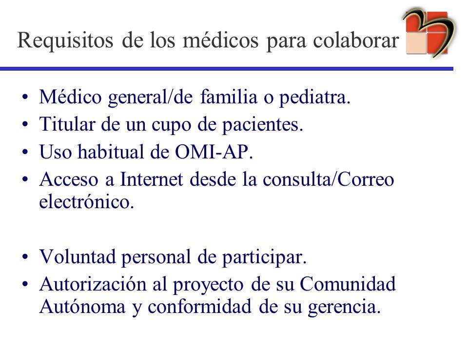 Requisitos de los médicos para colaborar
