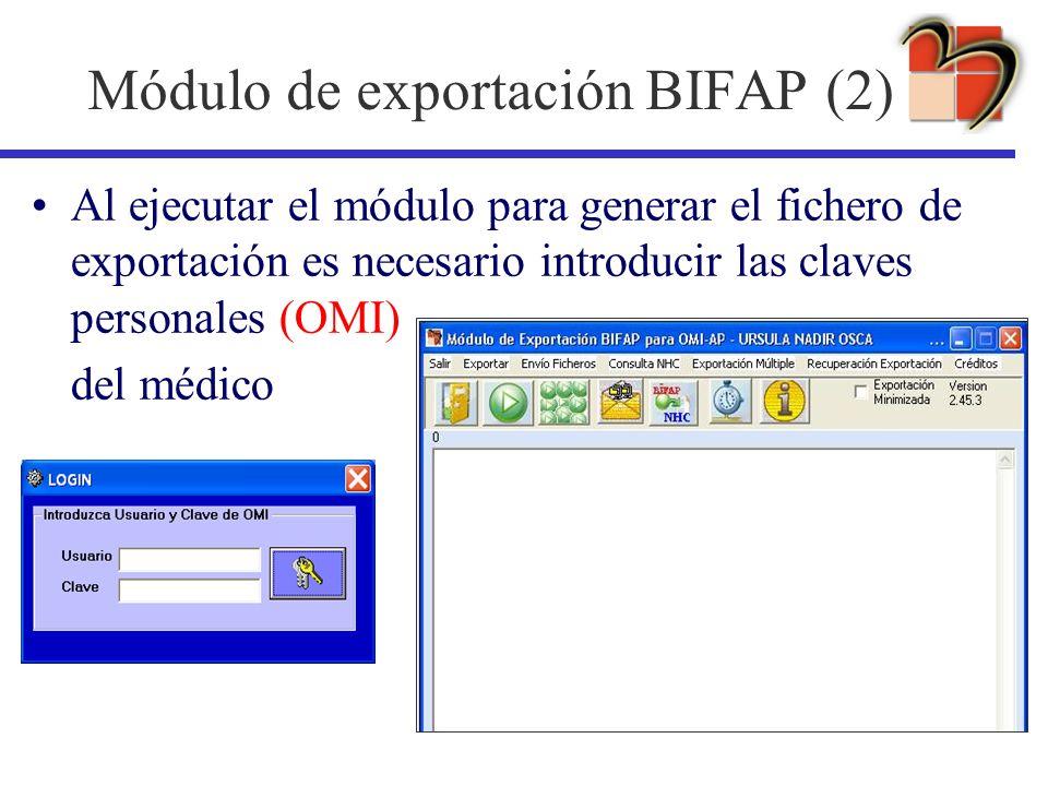 Módulo de exportación BIFAP (2)