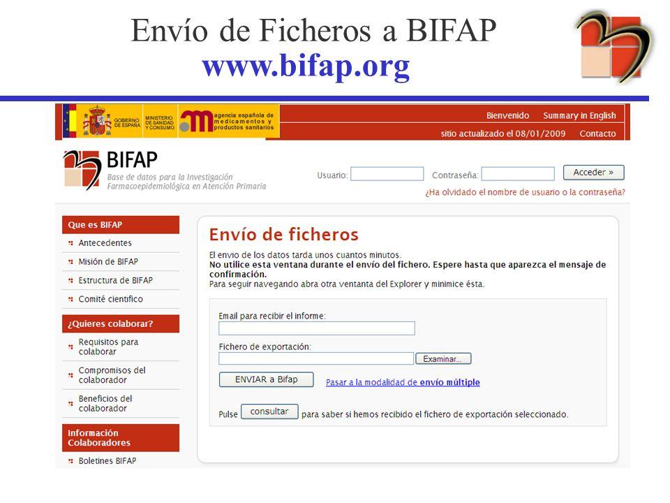 Envío de Ficheros a BIFAP