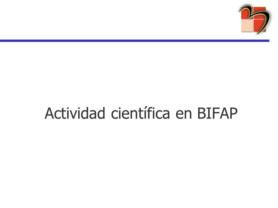 Actividad científica en BIFAP