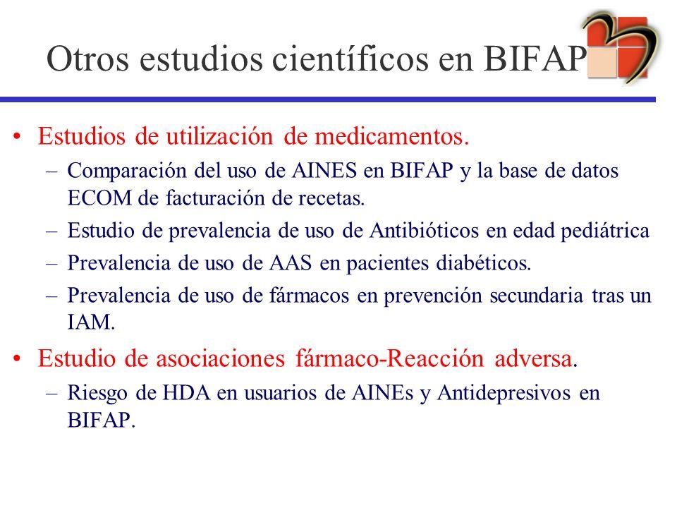 Otros estudios científicos en BIFAP