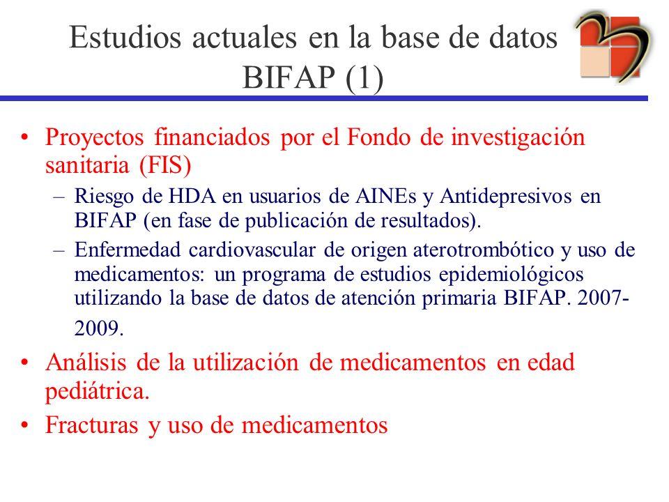 Estudios actuales en la base de datos BIFAP (1)