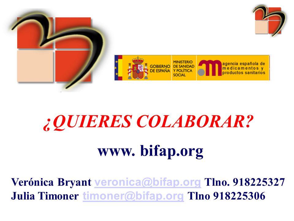 ¿QUIERES COLABORAR www. bifap.org