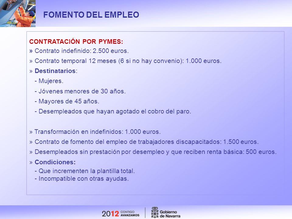 FOMENTO DEL EMPLEO CONTRATACIÓN POR PYMES: