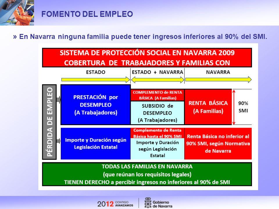 FOMENTO DEL EMPLEO » En Navarra ninguna familia puede tener ingresos inferiores al 90% del SMI.