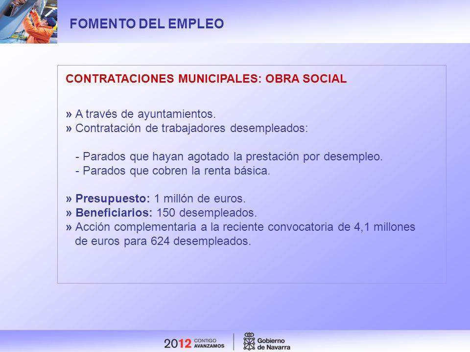 FOMENTO DEL EMPLEO CONTRATACIONES MUNICIPALES: OBRA SOCIAL