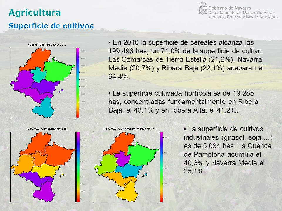 Agricultura Superficie de cultivos