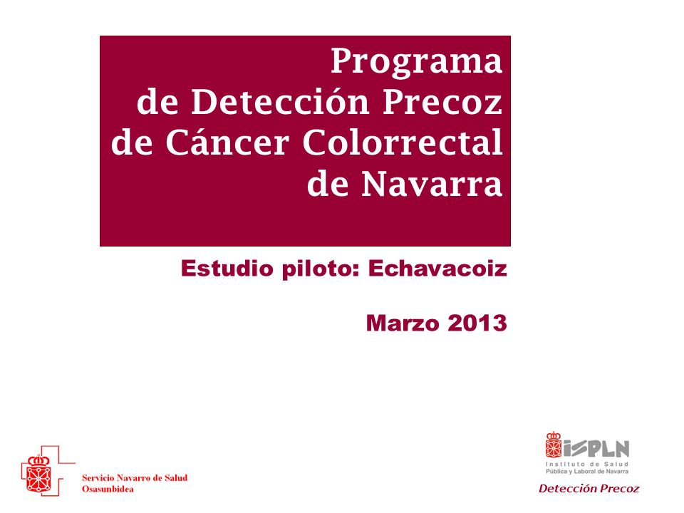 Programa de Detección Precoz de Cáncer Colorrectal de Navarra