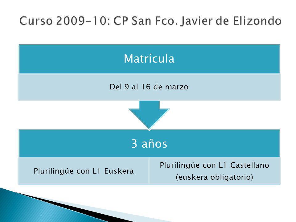 Curso 2009-10: CP San Fco. Javier de Elizondo