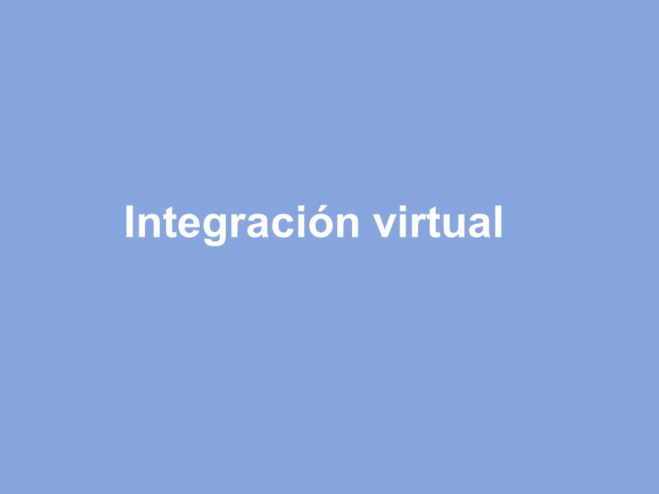Integración virtual