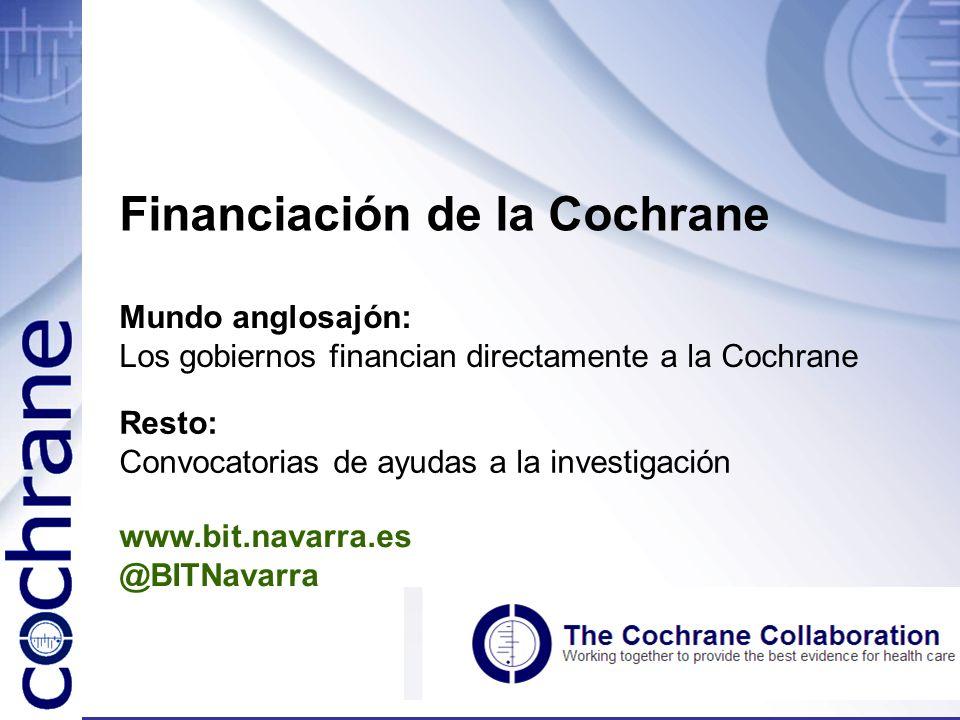 Financiación de la Cochrane