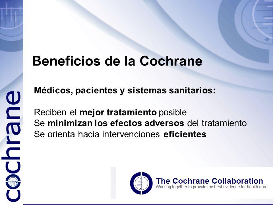 Beneficios de la Cochrane