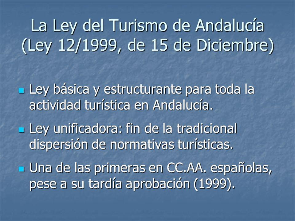 La Ley del Turismo de Andalucía (Ley 12/1999, de 15 de Diciembre)