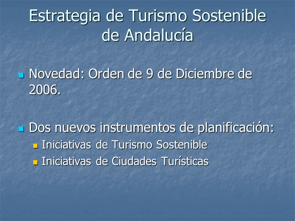 Estrategia de Turismo Sostenible de Andalucía