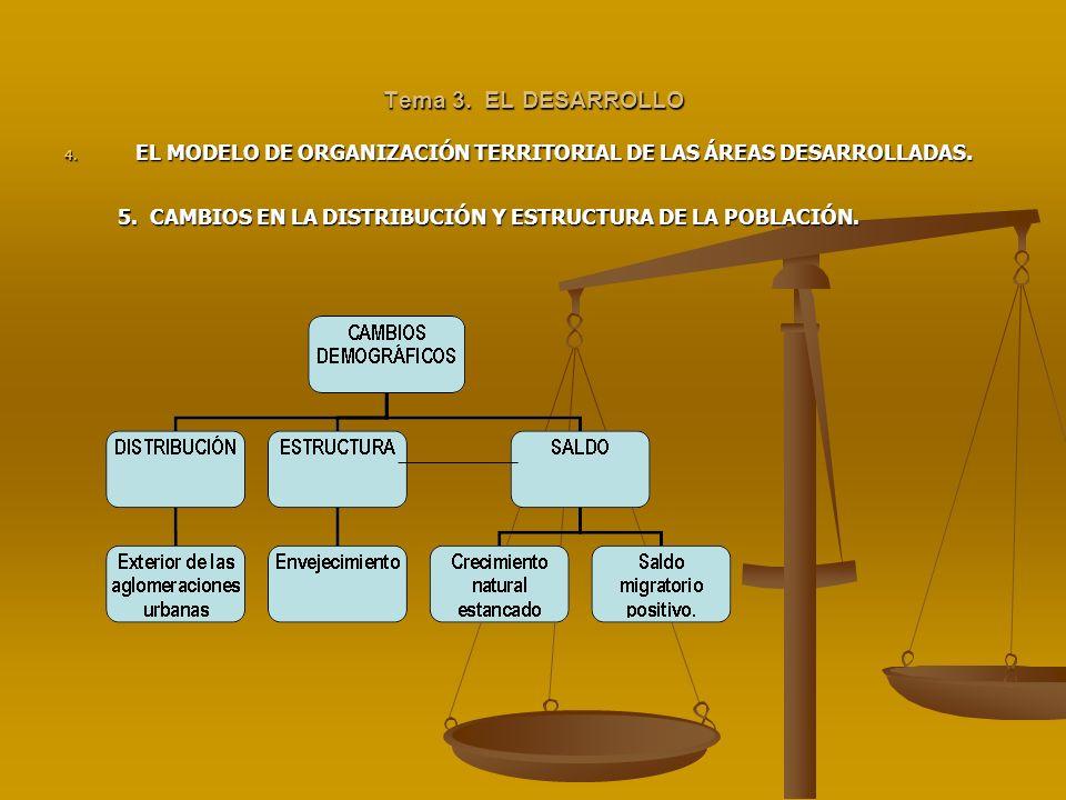 Tema 3. EL DESARROLLOEL MODELO DE ORGANIZACIÓN TERRITORIAL DE LAS ÁREAS DESARROLLADAS.