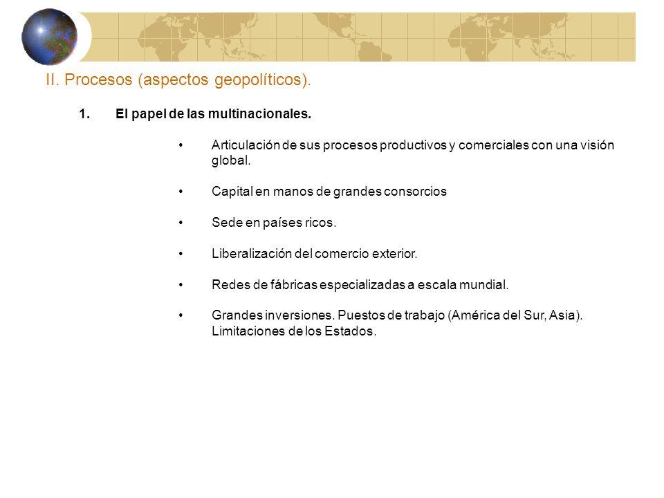II. Procesos (aspectos geopolíticos).