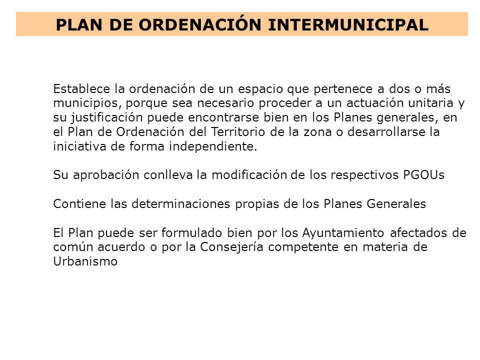 PLAN DE ORDENACIÓN INTERMUNICIPAL