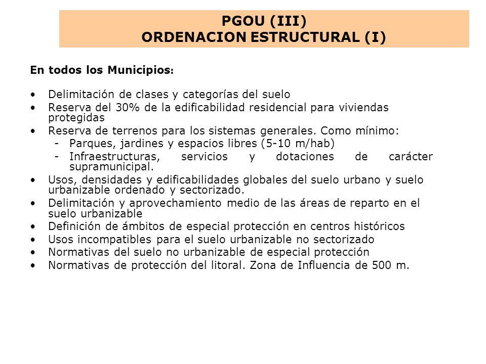 ORDENACION ESTRUCTURAL (I)