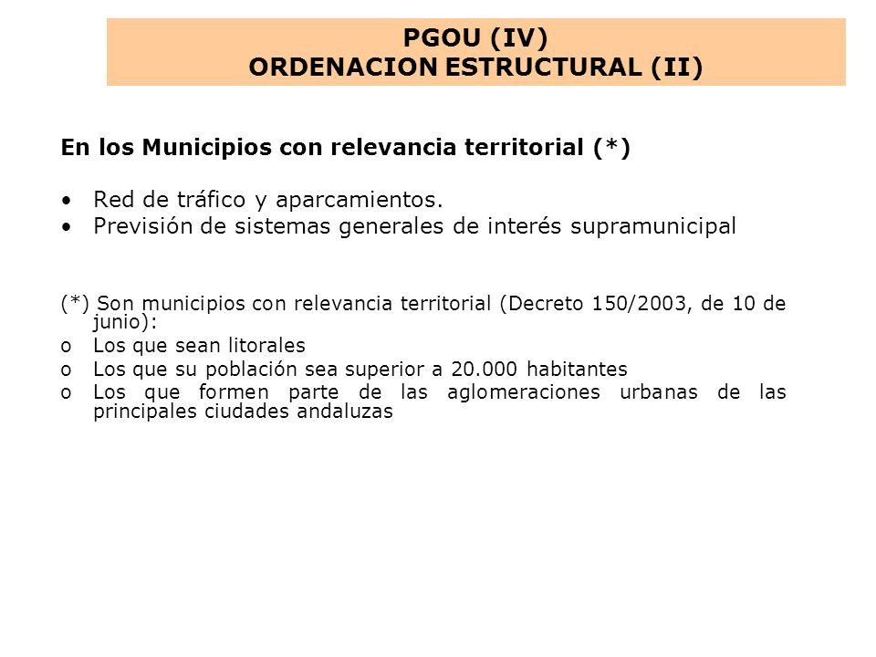 ORDENACION ESTRUCTURAL (II)