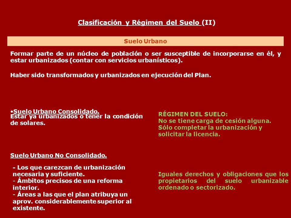 Clasificación y Régimen del Suelo (II)