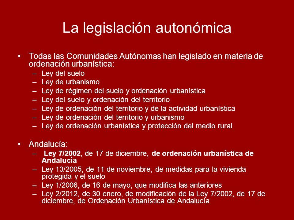 La legislación autonómica