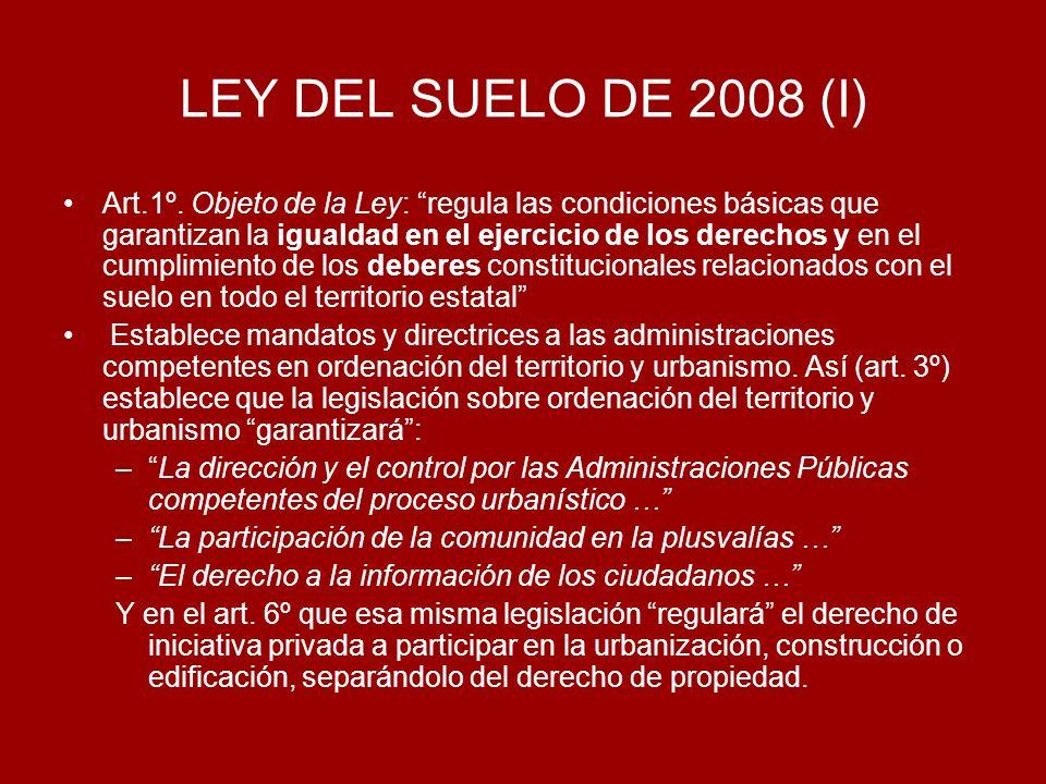 LEY DEL SUELO DE 2008 (I)