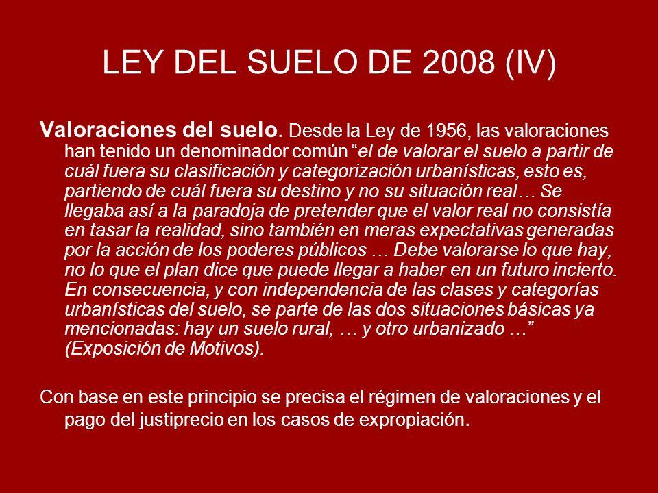 LEY DEL SUELO DE 2008 (IV)