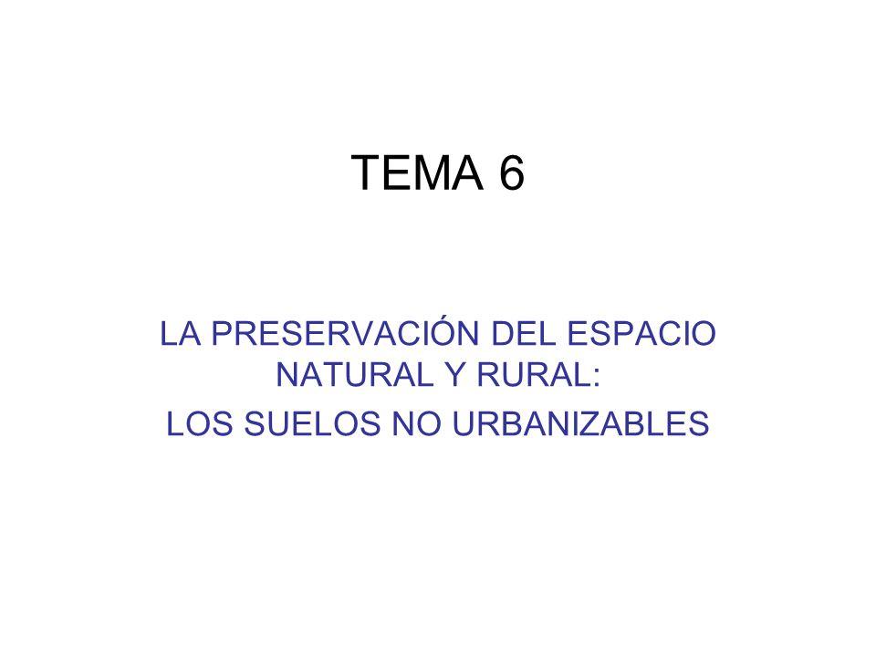 TEMA 6 LA PRESERVACIÓN DEL ESPACIO NATURAL Y RURAL:
