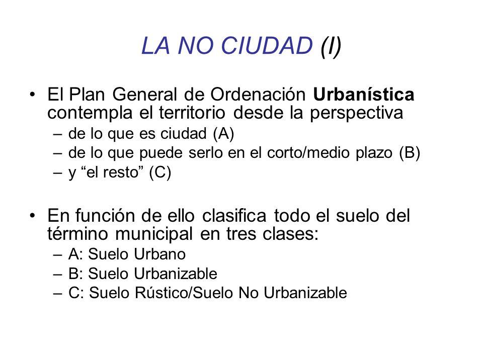 LA NO CIUDAD (I) El Plan General de Ordenación Urbanística contempla el territorio desde la perspectiva.