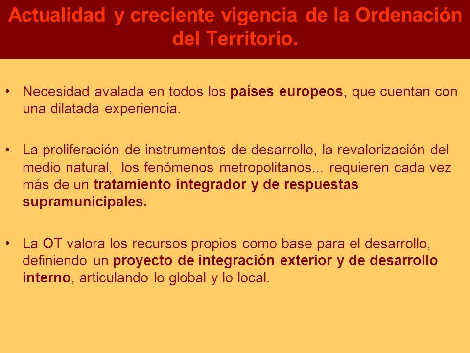 Actualidad y creciente vigencia de la Ordenación del Territorio.