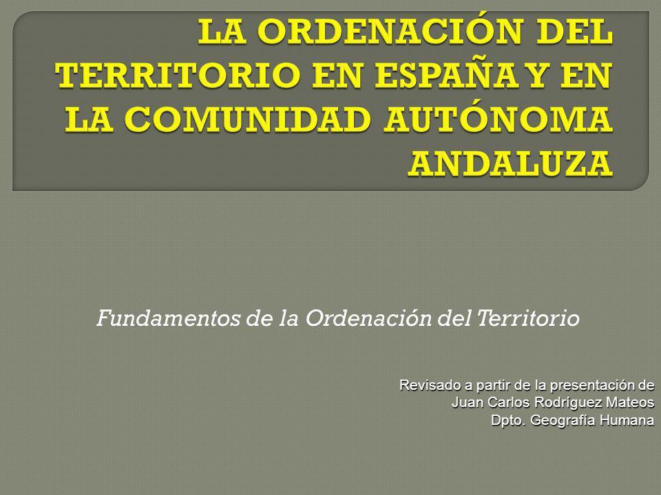 Fundamentos de la Ordenación del Territorio