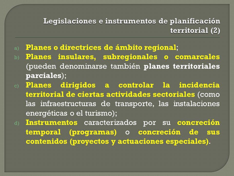Legislaciones e instrumentos de planificación territorial (2)
