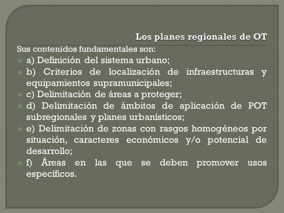 Los planes regionales de OT