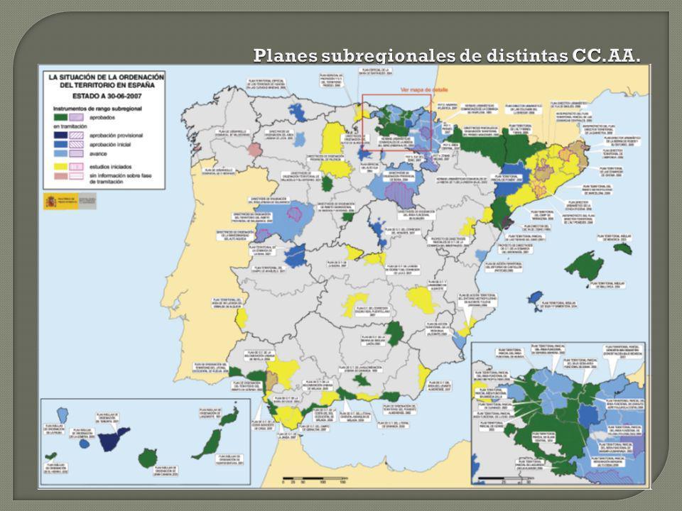 Planes subregionales de distintas CC.AA.