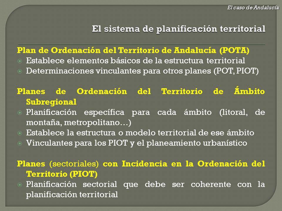 El sistema de planificación territorial