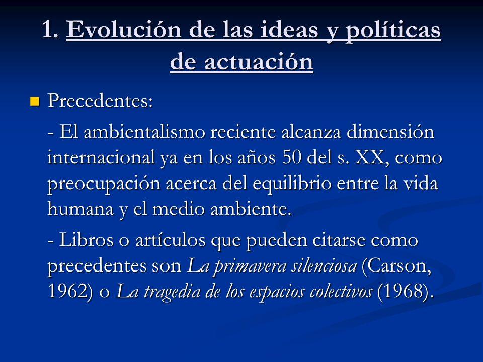 1. Evolución de las ideas y políticas de actuación