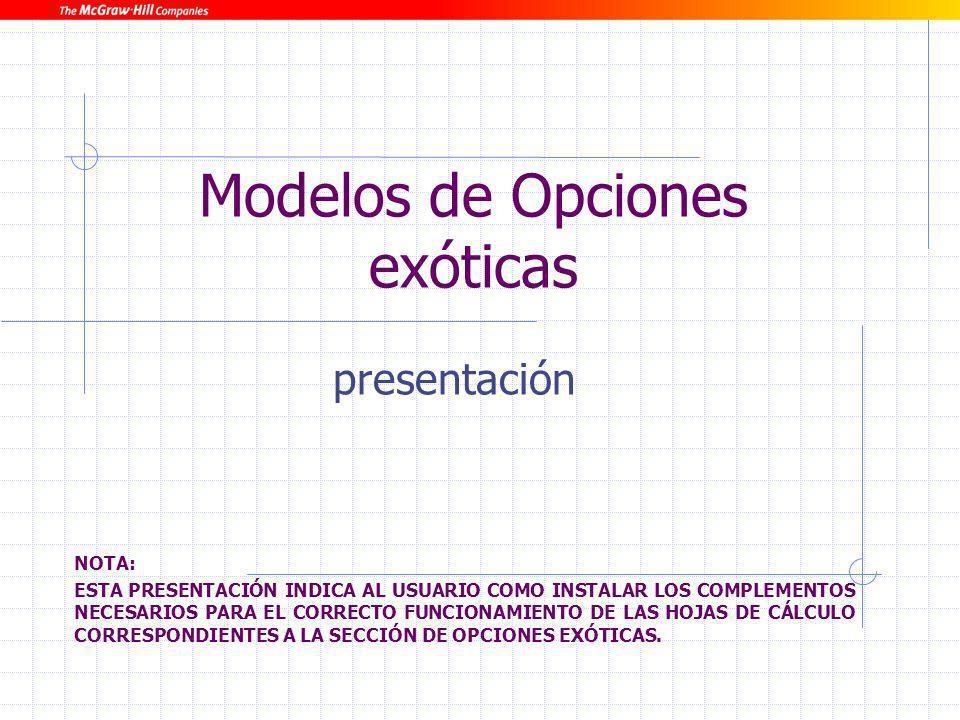 Modelos de Opciones exóticas