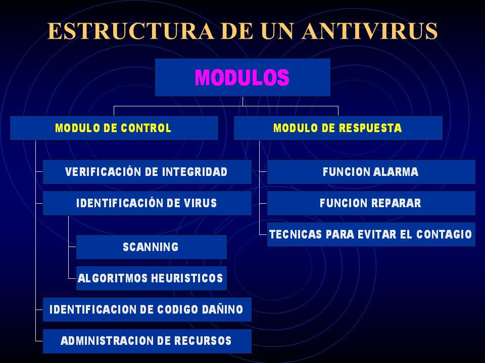 ESTRUCTURA DE UN ANTIVIRUS